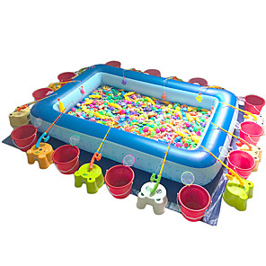 cheap Inflatable Ride-ons & Pool Floats-Kiddie Pool Fishing Toy Paddling Pool Inflatable Pool Intex Pool Inflatable Swimming Pool Kids Pool Water Pool for Kids Fun Plastic Summer Swimming Kid's Adults Kids Adults'
