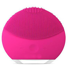 cheap Facial Care Device-Electric Facial Massage Mini Face Cleansing Brush USB ChargingWaterproof 8 Level T-Sonic Facial Cleansing Device Fuchsia Pearl
