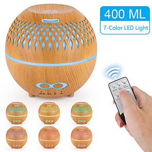 cheap Humidifiers-400ml remote control aromatherapy essential oil diffuser hollow ultrasonic humidifier