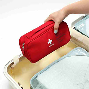 cheap Travel Security-Travel Luggage Organizer / Packing Organizer / Travel Pill Box / Case / First Aid Kit Polyester Portable / Dust Proof / Travel Accessories for Emergency Solid Color