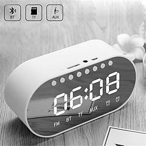 cheap Bookshelf Speakers-LED Alarm Clock Radio Digital Clock Wireless Bluetooth Speakers Support Dual Alarm Clock/ FM Radio/ AUX-in/ TF Card/ Flash Drive