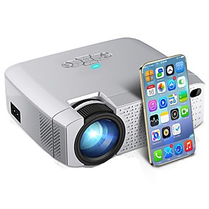 cheap Video Door Phone Systems-D40W LED Mini Projector Video Beamer for Home Cinema 1600 Lumens Support HD Wireless Sync Display For iPhone/Android Phone D40W