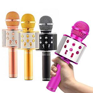 cheap Microphones-Professional Bluetooth Wireless Microphone Karaoke Speaker KTV Music Player Singing Recorder Handheld Microphone Mic 1800Mah