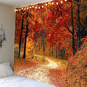 cheap Wall Stickers-Modern landscape theme tapestry of the forest path wall hanging hanging cloth background cloth decorative cloth
