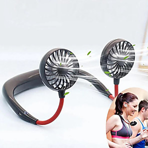 cheap Household Appliances-USB Portable Fan Mini Neck Fan Rechargeable Small Portable Sports Fan Light USB Desk Hand Air Conditioner Cooler