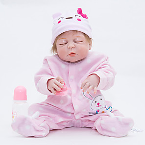 """cheap Reborn Doll-22 inch Reborn Doll Baby Reborn Baby Doll Newborn lifelike Cute Hand Made Child Safe Silicone Vinyl 22"""" with Clothes and Accessories for Girls' Birthday and Festival Gifts / Non Toxic / Lovely"""