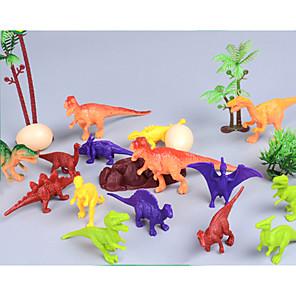 cheap Animal Action Figures-Dinosaur Figure Jurassic Dinosaur Simulation Non-toxic ABS Plastic For Kid's Boys' Girls' Gift 21 pcs