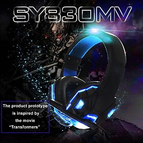 cheap On-ear & Over-ear Headphones-Soyto SY830MV Gaming Headset USB and 3.5mm Headphones Microphone Combo Cable LED Headphones E-sport for PC Computer PS4 XBOX Gaming