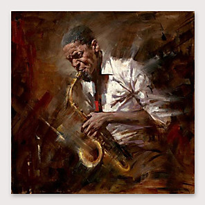 cheap Abstract Paintings-IARTS Hand Painted Musician Oil Painting with Stretched Frame For Home Decoration With Stretched Frame