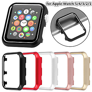 cheap Smartwatch Bands-Alloy Metal Watch Case for Apple Watch Series 5 4 3 2 1 38MM 42MM 40MM 44MM Watch Accessories Protective Shell for iWatch Series Sport Edition All Model