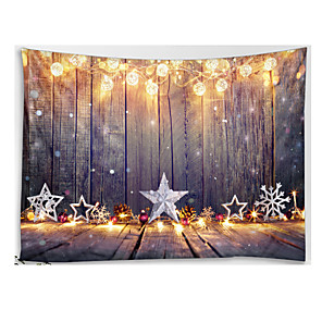 cheap Wall Tapestries-Christmas Santa Claus Wall Tapestry Art Decor Blanket Curtain Picnic Tablecloth Hanging Home Bedroom Living Room Dorm Decoration Wooden Board Star Light Polyester