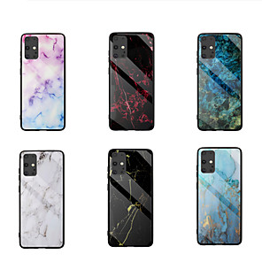 cheap Samsung Case-Case For Samsung Galaxy  S10Lite S20 S20Plus S20Ultra Note 10Lite 20 20Plus A51 A51(5G) A71 A71(5G) A91 M80S A81 M60S Shockproof Pattern Back Cover Marble TPU Tempered Glass