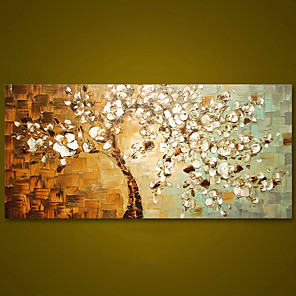 cheap Abstract Paintings-Frameless Panel Hand Painted Thick Palette Knife Painting Wall Art Picture Modern Abstract Canvas Large Oil Painting For Home Rolled Without Frame