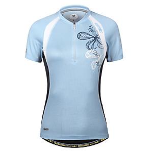cheap Cycling Jerseys-Women's Short Sleeve Cycling Jersey Blue Bike Jersey Mountain Bike MTB Road Bike Cycling Quick Dry Sports Clothing Apparel / Stretchy