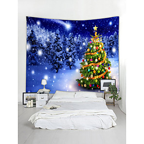 cheap Wall Tapestries-Christmas Santa Claus Wall Tapestry Art Decor Blanket Curtain Picnic Tablecloth Hanging Home Bedroom Living Room Dorm Decoration Christmas Tree Snow Forrest Star Polyester