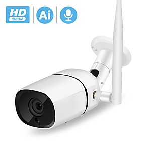 cheap Outdoor IP Network Cameras-BESDER 1080P HD Wifi IP Camera Two Way Audio ONVIF P2P 2MP Security CCTV Camera Ai Detection Outdoor Wireless Camera TF Card