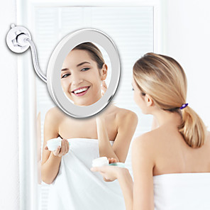 cheap Bathroom Gadgets-LED Mirror Flexible Makeup Mirror with Led Light Vanity Mirrors 10X Magnifying Mirrors Light Cosmetic Miroir