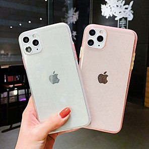 cheap iPhone Cases-Case For Apple iPhone 7 8 7plus 8plus X XR XS XSMax SE(2020) iPhone 11 11Pro 11ProMax Shockproof  Transparent  Glitter Shine Back Cover Transparent Glitter Shine TPU  PC