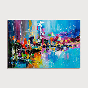 cheap Abstract Paintings-Hand-Painted Abstract Painting Canvas Art  Painting Abstract Acrylic Painting Modern Art Textured Art  with Stretcher Ready to Hang With Stretched Frame