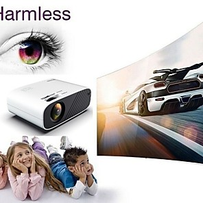 cheap Projectors-F09/F23 480P Basic Andriod/Wifi Sydn Display Hd 3D Led Mini Video Theatre Projector Home Cinema 18000 Lumens With Infrared Remote Control Function