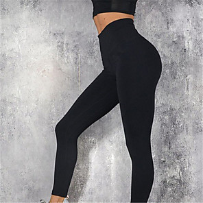 cheap Fitness Gear & Accessories-Women's Yoga Pants Cropped Leggings Tummy Control Butt Lift Breathable Black Burgundy Grey Yoga Fitness Gym Workout Sports Activewear Stretchy