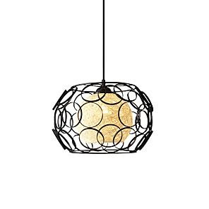 cheap Neon LED Lights-32 cm Single Design Pendant Light Metal Wood / Bamboo Modern 110-120V 220-240V