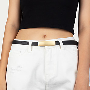 cheap Cell Phones-Women's Party / Work Waist Belt - Solid Colored