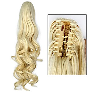 """cheap Hair Pieces-miss u hair girl's 20"""" long blonde curly claw jaw ponytail clip on hair extensions hairpiece p10 (a07 beige)"""