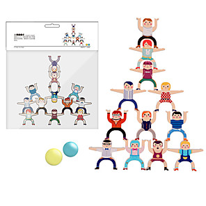 cheap Reborn Doll-Stacking Game compatible Wood Legoing Balance Classic Toy Gift