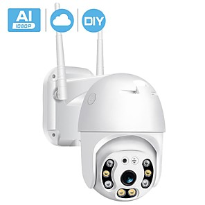 cheap Indoor IP Network Cameras-BESDER 1080P Outdoor Speed Dome Wifi IP Camera 2MP H.265 Audio PTZ Wireless AI Camera Cloud-SD Slot ONVIF Security CCTV Camera
