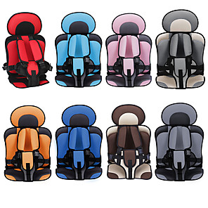cheap Doorbell Systems-Car Safety Seat Adjustable Portable Convenient Breathable Polyester Fabric Thickening Baby Safety Seat Childen Protect Seat (3~6 years old)