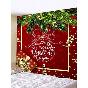 cheap Oil Paintings-Christmas Weihnachten Santa Claus Wall Tapestry Art Decor Blanket Curtain Picnic Tablecloth Hanging Home Bedroom Living Room Dorm Decoration Merry Christmas Tree Gift Polyester