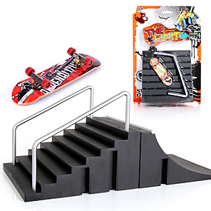 cheap Building Blocks-2 pcs Finger skateboards Mini fingerboards Plastic Alloy Office Desk Toys Cool Kid's Teen Unisex Party Favors  for Kid's Gifts