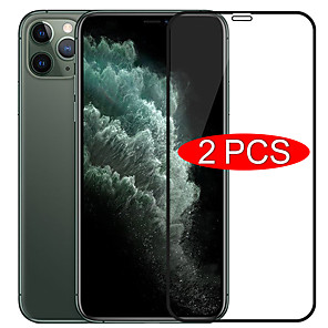 cheap iPhone Cases-Screen Protector For Apple iPhone 11 11Pro 11Pro Max XS Max XR XS 6 7 8Plus SE 2020 High Definition (HD) Front Screen Protector 2 pcs Tempered Glass