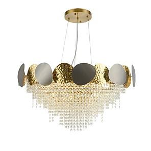 abordables Pelucas de Cabello Natural-6 luces, 60 cm, diseño único, lámpara colgante de metal moderno 110-120v 220-240v