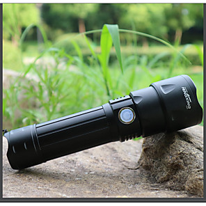 cheap Flashlights-LED Flashlights / Torch Waterproof LED Emitters 3 Mode with Batteries and USB Cable Waterproof Portable Adjustable LED Camping / Hiking / Caving Everyday Use Cycling / Bike USB Cold White Light