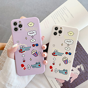 cheap iPhone Cases-Case For Apple iPhone X XR XS XSMax iPhone 11 11Pro 11ProMax Shockproof Ultra-thin Pattern Back Cover Word Phrase Animal Cartoon Silica Gel