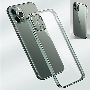 cheap iPhone Cases-Case for Apple iPhone 11 Pro Max 11 Pro Shockproof Plating Back Cover Transparent TPU