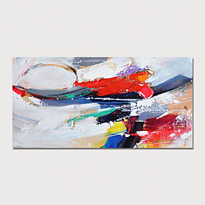 cheap Abstract Paintings-Hand Painted Canvas Oil Painting Abstract Home Decoration With Frame Painting Ready To Hang With Stretched Frame