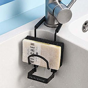 cheap Bathroom Gadgets-sink caddy sink sponge holder, small kitchen bathroom metal organizer liquid drainer faucet rack shower tray-fix around faucet