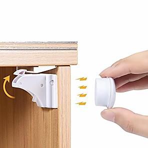 Χαμηλού Κόστους Φροντίδα μωρού-μαγνητικές κλειδαριές για την ασφάλεια των παιδιών - ντουλάπι κλειδαριές για μωρά - αυτοκόλλητα ερμάρια για μωρά&αμπέραζ; συρτάρια μανδάλωσης χωρίς διάτρηση - κλειδαριές για την ασφάλεια του μωρού