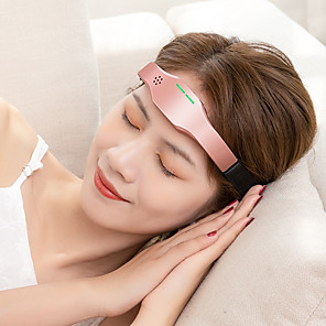 cheap Human Hair Wigs-Electric Head Sleep Device Improve Insomnia Acupuncture And Sleep Aid Wireless Charging Hypnosis Device Head Massager Electric Pulse Three-Speed Rate