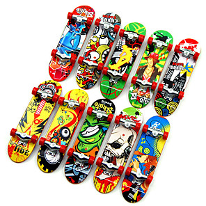 cheap Stuffed Animals-10 pcs Finger skateboards Mini fingerboards Finger Toys Plastic Professional Office Desk Toys Cool Kid's Teen Unisex Party Favors  for Kid's Gifts
