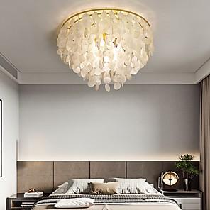 cheap Abstract Paintings-50 cm Single Design Flush Mount Lights Shell Modern 110-120V 220-240V