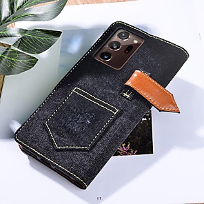 cheap Samsung Case-Case For Samsung Galaxy Galaxy A01 A11 A21S A31 A41 A51 A71 A81 Wallet Card Holder Full Body Cases Solid Colored PU Leather