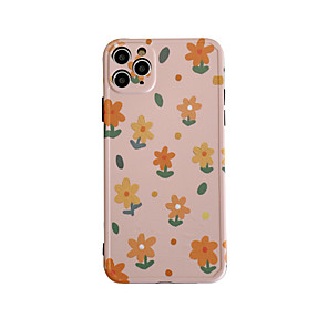 cheap iPhone Cases-Case For Apple iPhone 7 plus 8 plus XR XS XS MAX X SE 11 11Pro 11ProMax Pattern Back Cover TPU  Flower