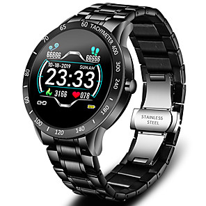 cheap Smartwatches-JSBP W0122 Bluetooth Fitness Tracker Support Notify/ Heart Rate Monitor Stainless Steel Sport Smartwatch for Samsung/ Iphone/ Android Phones