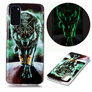 cheap Door Locks-Case For Samsung Galaxy S20 Ultra S10E S9 Plus S8 S7 Edge S6 S5 A21S A21 A31 M11 Glow in the Dark Pattern Back Cover Animal TPU