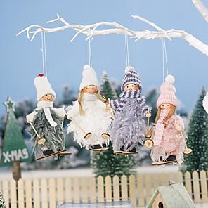 voordelige Kerstdecoraties-kerstversiering 2 stuks engel pop hanger boom opknoping ornamenten kerst ambachten elfjes decoraties