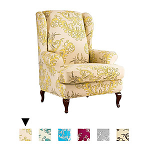 cheap Smartwatch Bands-Easy-Going Stretch Wingback Chair Sofa Slipcover 2-Pieces Sofa Cover Furniture Protector Couch Soft with Elastic Bottom Spandex Jacquard Fabric